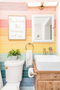 Decoration Inspiration, Bathroom Inspiration, The Tile Shop, Laundry In Bathroom, Baby Bathroom, Tiny House, Sweet Home, House Design, Iridescent Tile