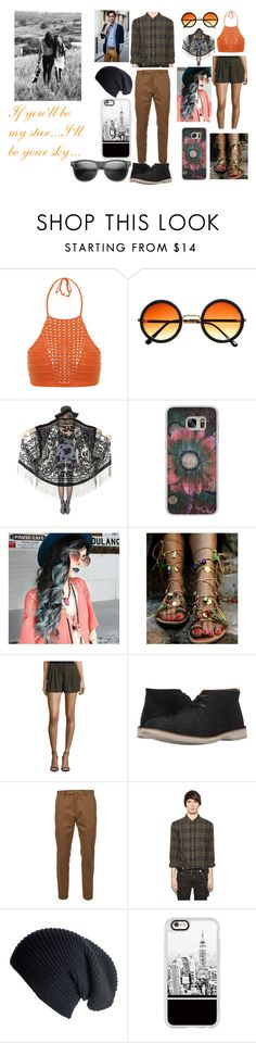 """""""Hipster Couple"""" by alexblackwood on Polyvore featuring Spiritual Hippie, Casetify, ZeroUV, Haute Hippie, John Varvatos, Valentino, BLK DNM and Black"""