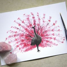 Rosy Watercolor Cherry Blossom Animals By Calvin T