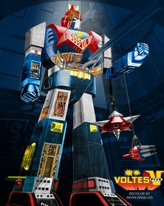 Voltes V mechanical poster