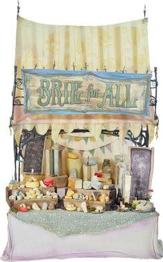 Memorabilia:Movie TV Props, The Boxtrolls Cheese Vendor's Stand Original Animation Prop(LAIKA, 2014)....