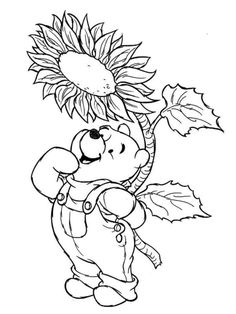 download and print winnie the pooh disney spring coloring pages - Coloring Pages For Printing