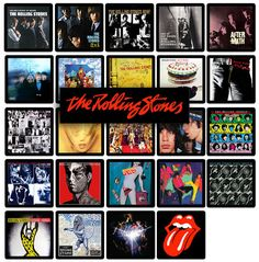 rolling stones album cover in order Rolling Stones Album Covers, Mick Jagger, The Beatles, Vinyl Records, Rock N Roll, Illustrations Posters, Rolls, Handmade, Etsy