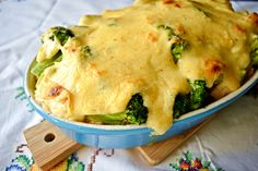 Zapiekanka brokułowa z kurczakiem i serem buratta pod serowym beszamelem Meat, Chicken, Food, Essen, Meals, Yemek, Eten, Cubs