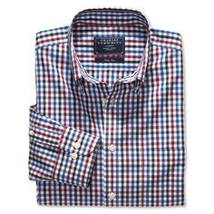 Their shirts are awesome and a great value. Love this gingham pattern