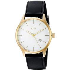 Neff Esteban PU Watch ($65) ❤ liked on Polyvore featuring jewelry, watches, water resistant watches, neff and neff watches