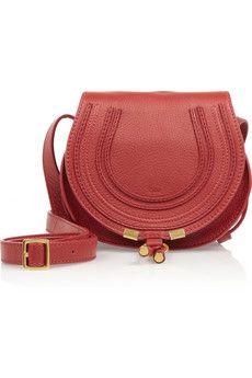 Chloé | Mini Marcie textured-leather shoulder bag | NET-A-PORTER.COM