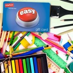 Staples Gift Card 50% Off Great for Staples Back To School Sale http://www.frugallivingandhavingfun.com/2012/07/staples-15-gift-card-ony-7-50-great-for-staples-back-to-school-sale/