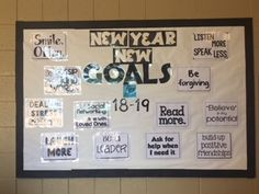New Goals Counseling Bulletin Boards, First Love, Positivity, Goals, Reading, First Crush, Puppy Love, Reading Books, Optimism