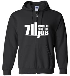 awesome Seven Eleven Was A Part Time Job Unisex zip hoodie
