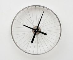 etsy Recycled Bike Wheel Clock
