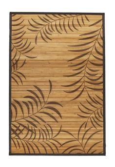 Oriental Furniture Tropical Leaf Bamboo Rug 5u0027 X 8u0027 Http://suliaszone