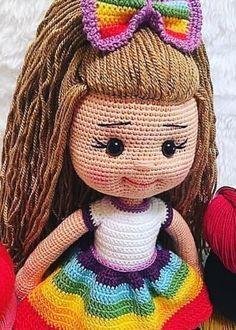 Amazing and very Cute Crochet Amigurumi Pattern Ideas for 2019 Part amigurumi pattern free; amigurumi pattern anime Knitting PatternsKnitting For KidsCrochet BlanketCrochet Scarf Crochet Amigurumi Free Patterns, Crochet Doll Pattern, Doll Patterns Free, Yarn Dolls, Knitted Dolls, Cute Crochet, Crochet Baby, Costume Marin, Amigurumi Doll
