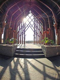 The Marjorie Powell Allen Chapel at Kansas City's botanical garden Architecture Panel, Cultural Architecture, Sacred Architecture, Education Architecture, Concept Architecture, Residential Architecture, Architecture Design, Powell Gardens, Botanical Gardens