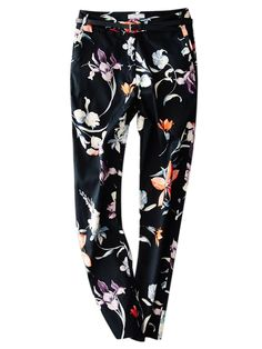 Multicolor Floral Print Pants