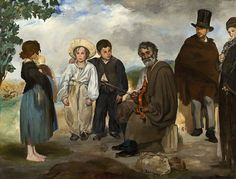 Édouard Manet, IL VECCHIO MUSICISTA, 1862, 1,87 m x 2,48 m, Colore ad olio, National Gallery of Art