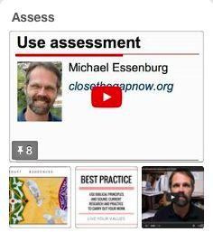 Michael Essenburg's best practice board on assessment