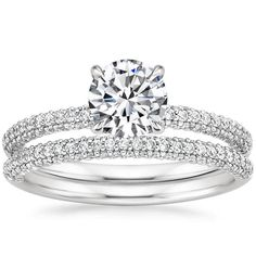 Platinum Valencia Diamond Matched Set (1/2 ct. tw.) from Brilliant Earth