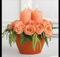 Orange_20Rose_Candle_20Centerpiece