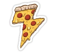 Thunder Cheesy Pizza Sticker