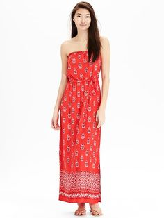 Women's Patterned Tube Maxi Dresses Product Image
