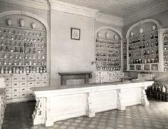 Apothecary Shop, c.1920s Too traditional, but great inspiration.