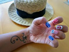 Mani Monday:: Stripes and Bowties By Pooja Tiwari   fourth of july nails bowtie nails fourth of july bow  red white and blue stripes summer nails