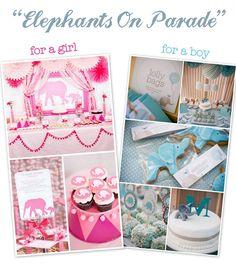 Baby Shower: Theme: Elephants on Parade.