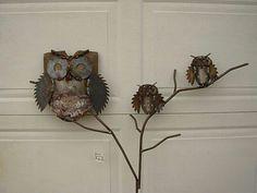 Saw blade Owls