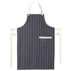Orla Kiely: Cotton apron with large Linear Stem print. Pocket to front.