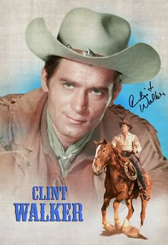 Clint Walker - Cheyenne (1959) - Metek09-Artwork-Production (2019) Hollywood Stars, Old Hollywood, Clint Walker Actor, Cheyenne Bodie, Good Old Movies, Cowboy Girl, Colorized Photos, James Spader, Tv Westerns