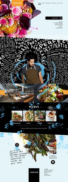 Canteen restaurant website by agency dominion full