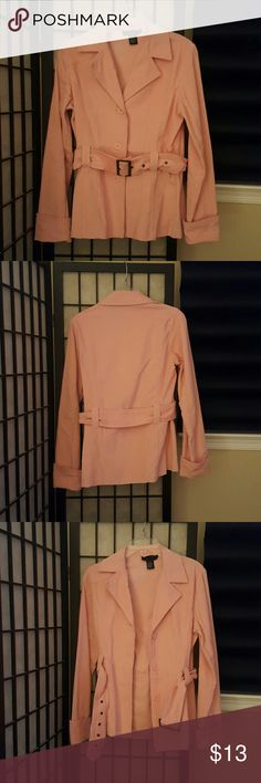 Outer Edge Jacket Pink corduroy belted blazer ..with cuffed sleeves and 3 button front closure. Very flattering  cotton ramme...easy care Outer Edge  Jackets & Coats Blazers