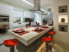 Construindo Minha Casa Clean: Tendência de Cozinhas com Ilha Central e Ilha…