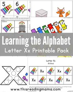 Learning the Alphabet - Letter X Printable Pack