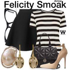 Wear What You Watch • Inspired by Emily Bett Rickards as Felicity Smoak...