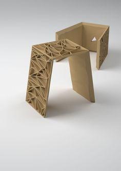 Bruno Fosi: vertice-stool wood hardclub-mobilihard-design-contest