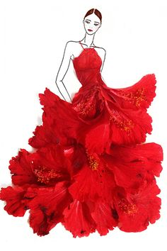 65 Ideas For Fashion Ilustration Art Flower Fashion Design Drawings, Fashion Sketches, Floral Fashion, Fashion Art, Illustration Mode, Portrait Illustration, Art Illustrations, Fashion Illustrations, Pressed Flower Art