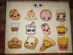 "21 Me gusta, 6 comentarios - Cristal G. (@crissy.gonz) en Instagram: ""*-* Comida Kawaii :3 #Art #dibujos #colors #todoalapiz #kawaii #food #DCgonz 13/06/16 n.n"""