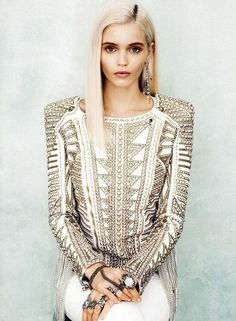 Abbey Lee Kershaw by Norman Jean Roy for Vogue US January 2012. Styled by Tabitha Simmons.