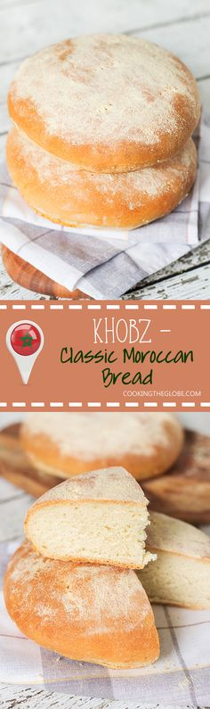 This staple Moroccan bread (Khobz) is a cornerstone of Moroccan diet. It's eaten every single day! | cookingtheglobe.com