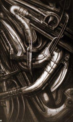 Biomechanical Landscape 013 - Science Fiction H R Giger Abstract Sculpture, Wood Sculpture, Metal Sculptures, Bronze Sculpture, Zurich, Concept Art Alien, Hr Giger Art, Giger Alien, Surreal Artwork