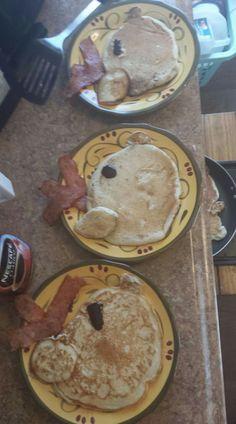 Christmas breakfast reindeer pancakes