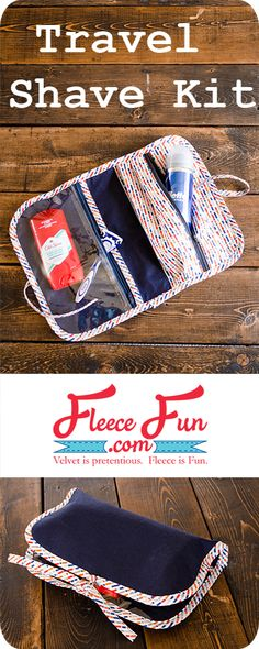 DIY Tutorial on how to make your own Travel Shave Kit!  This travel shaving kit free pattern is perfect handmade gift for that special fella in your life! With handy compartments and a sleek design you can easily personalize it with fabric that reflects his personality.  A perfect Christmas gift for that impossible to buy for man in your life!