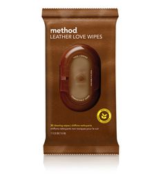 Method Leather Love Wipes! The best!!! I use these 2x a month on my leather sofas. They even spot clean real good. I have pets and kids, these do the trick without drying out the leather or taking out the stain.  $5.49