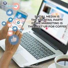 Social Media is The Cocktail Party Email Marketing is the Meet Up for Coffee Website:- thedigizones.com Email- contact@thedigizones.com Phone no.- +1 8084002436 #facebook #photography #entrepreneurship #instagood #smm #digitalmarketingtips #startup #marketingonline #contentcreator #emailmarketing #social #website #motivation #covid #socialmediamarketingtips #bhfyp #socialmediaagency #fashion #creative #art #onlinebusiness #ecommerce #success #content #brand #facebookmarketing Advertising Services, Digital Marketing Services, Seo Services, Marketing And Advertising, Facebook Marketing, Online Marketing, Social Media Analysis, Website Optimization, Web Design Company