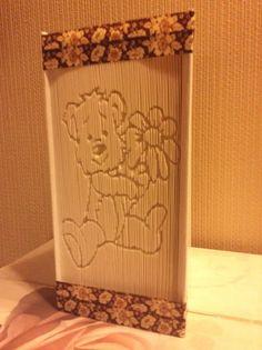 Book folding pattern Teddy Bear Cut and by Tinasbookfoldpattern
