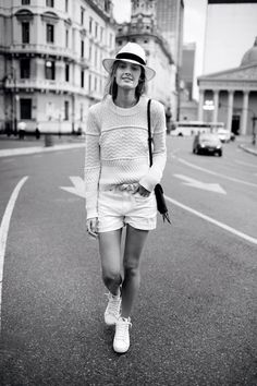 All white everything with Constance Jablonski.Photo: Madewell, viaGlamour.com