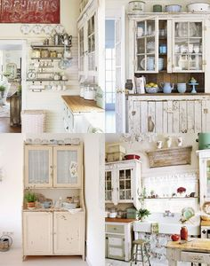 All kitchens once had free standing units rather than the fitted look we've all become so used to and I personally prefer these free standing cabinets and appliances, a blend of old and new.