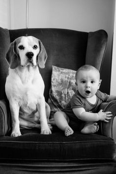 Dad Takes Photo Of His Baby Boy And His Beagle Every Month For Two Years - Neatorama